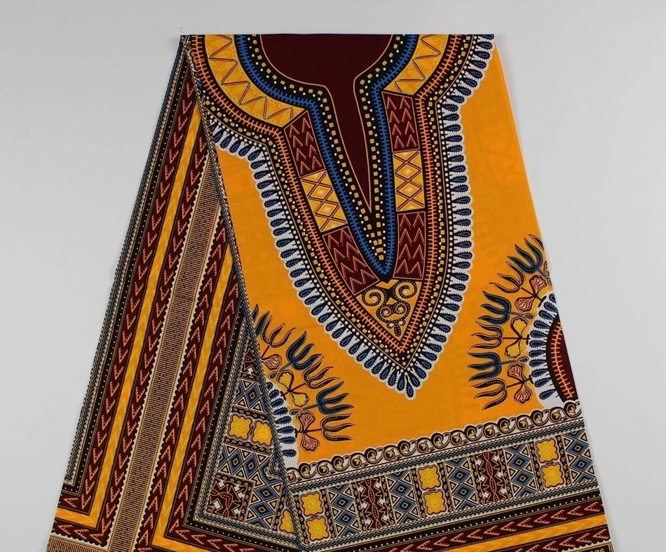 Hot sale yellow dashiki fabric african batik cotton super for Fabric material for sale
