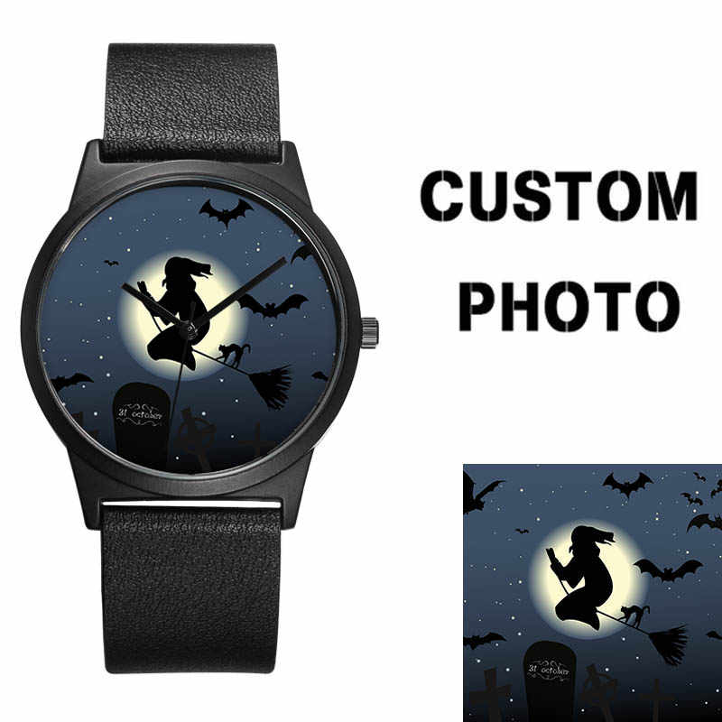 20b06198b51 ... B-9042 BAOSAILI New Design Couple Watch Lovers Photo Face Dial Classic  Black Wrist Watch ...