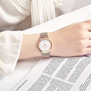 Image 5 - NAVIFORCE zegarek moda damska sukienka zegarki kwarcowe Lady zegarek wodoodporny ze stali nierdzewnej prosta dziewczyna zegar Relogio Feminino