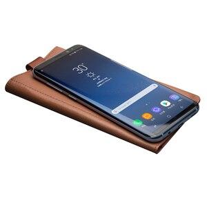 Image 2 - Funda QIALINO para Samsung Galaxy S8 Plus Funda de cuero genuino de lujo para Samsung S8 + cartera con ranura para tarjeta bolsa ultrafina de lujo