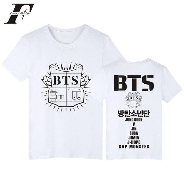 2017 T camisa BTS kpop aptidão Camisas de t Dos Homens mulheres de Manga  Curta 97a797c3d49