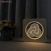 3D Lamp Night LED Switch Light Warm Color Decoration Lamp Art Style Night Light for Children Gift