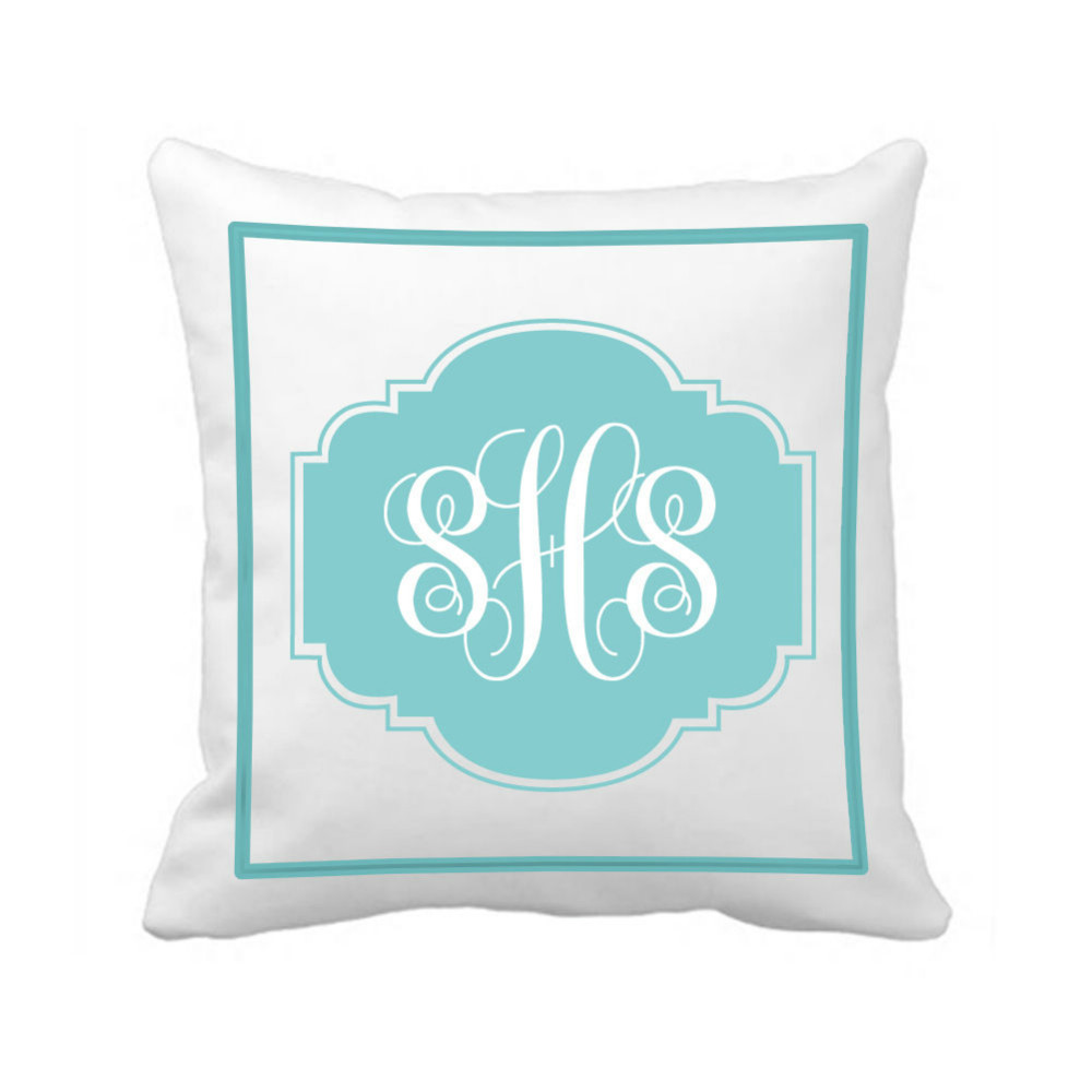 Personalised Wedding Gifts Pillow Cases : Cover Custom Monogram Initial Throw Pillow Case Unique Wedding Gifts ...
