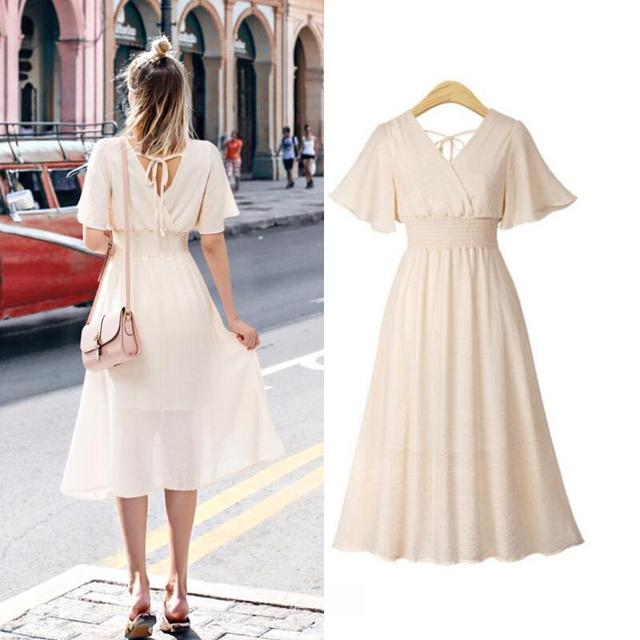 plus size dress white bandage elegant midi pink chiffon black office summer ruffle big vestiti donna v neck tallas grandes mujer 1