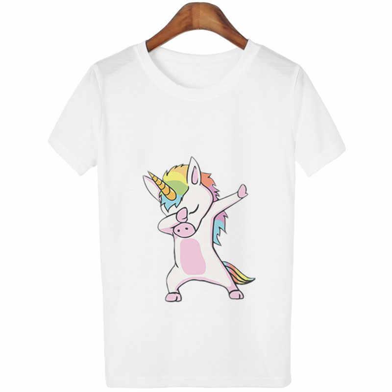Dibujos Imprimir Kawaii Hipster Mujer Unicornio Tops Casual Top Camisetas Divertido Camiseta Animados Harajuku Baile Tumblr 0kwOn8PX
