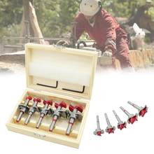 High sale Woodworking Hole Saw Set Wood Cutter Auger Opener Drilling Tool Kits set of tools 15-35mm HVR88 HVR88(China)