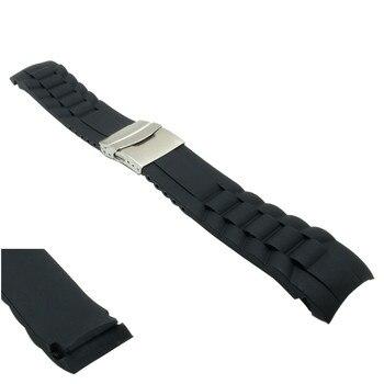 16mm 18mm 20mm 22mm 24mm 26mm interfaz de arco alta calidad Superior resistente al agua características de silicona correa de reloj