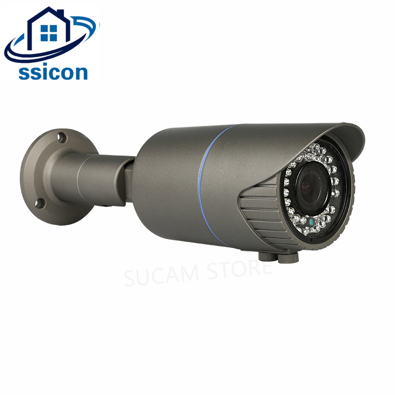 SSICON SONY326 CMOS Sensor 5MP AHD Camera 3.6-10mm Lens Manual Zoom Bullet Outdoor 5Megapixel Security Camera With OSD Menu ssicon h 264 waterproof mini bullet 1080p ahd camera outdoor 4mm lens home security cctv camera 1080p with osd menu