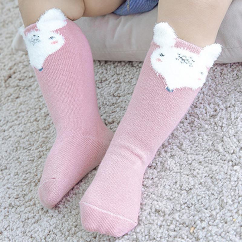 1 Para Unisex Reizende Nette Cartoon Fuchs Kinder Baby Socken Knie Mädchen Junge Baby Kleinkind Socken Tier Infant Weiche Baumwolle Lange Socken 0-3 T Produkte HeißEr Verkauf