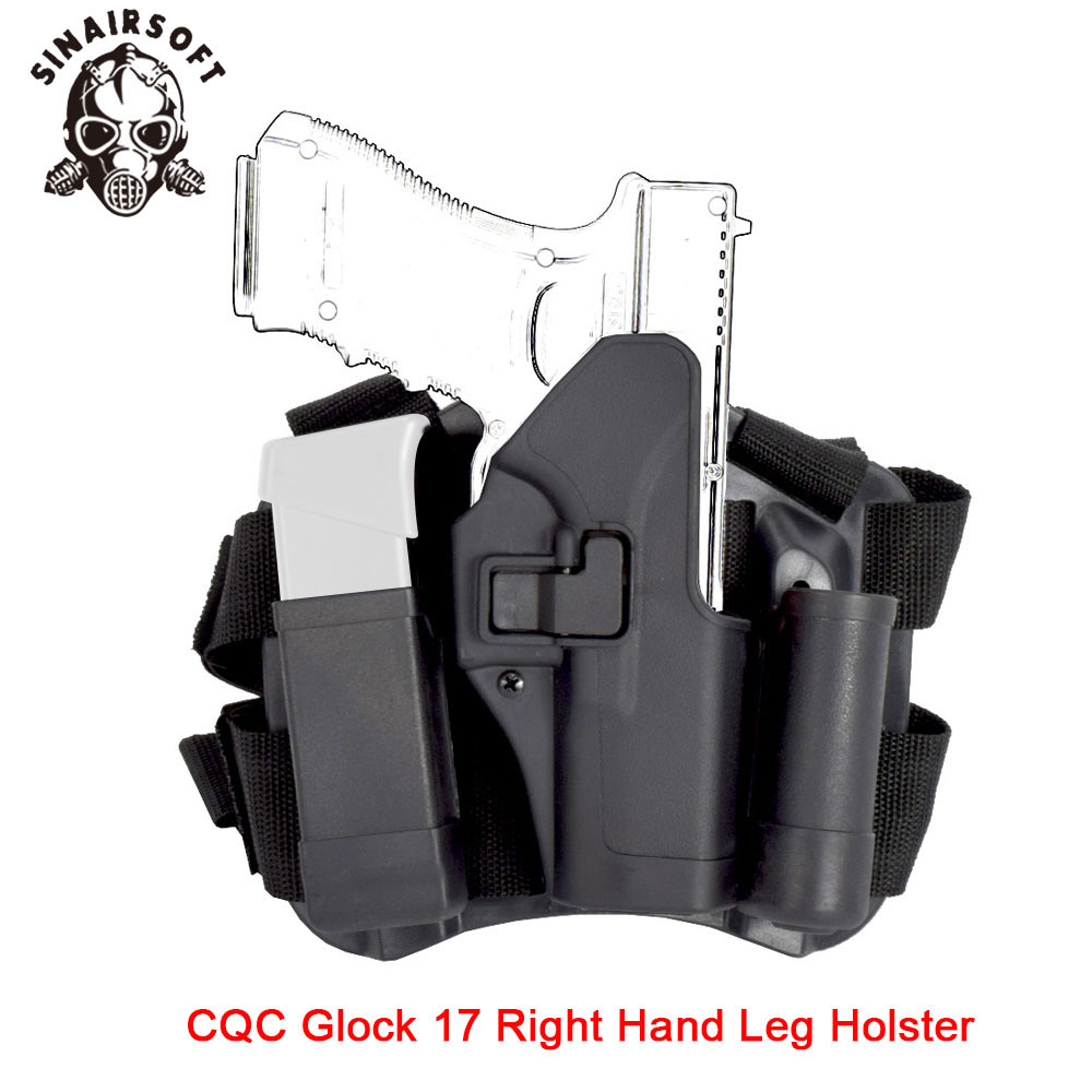 Tactical CQC G17 Right Hand Drop Leg Holster Pouch Fit Glock Pistol 17 19 22 23 31 32 For Paintball Shooting Hunting Accessories