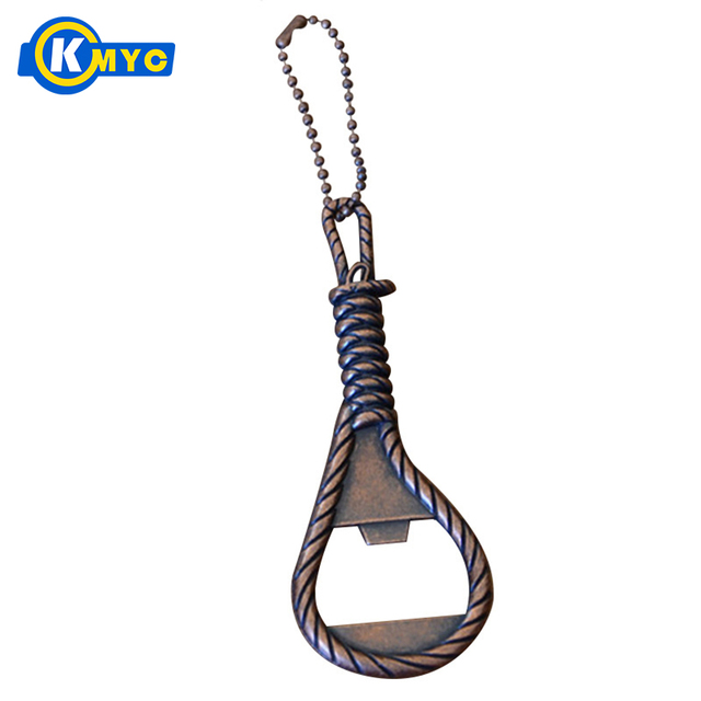 KMYC Metal Rope Shaped Bottle Opener Keychain Beer Opener Novelty Gifts  Portable Beer Openers Kitchen Gadgets