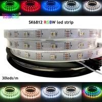 1m/4m/5m SK6812 (similar ws2812b ) IP30/IP67 DC5V RGBW 4 in 1 30/60/144 leds/pixles/m;individual addressable led strip