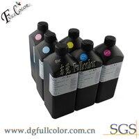 Impresora UV LED de Color blanco BK C M Y + 2 para usar tinta UV de recarga de impresora L801 L800 con líquido de limpieza envío gratis