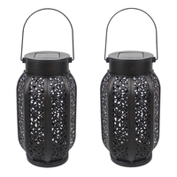 2 Pack Hanging Solar Flame Lights Outdoor Waterproof Solar Lantern Retro Lantern For Outdoor Decorative Lights Decoration Equi