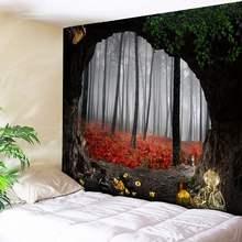 """Индийский стиль лес гобелен дерево отверстие с принтом """"природные"""