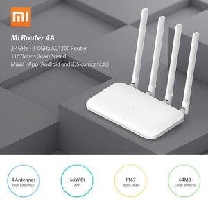 Image 4 - Xiaomi mi roteador 4a, sem fio wifi 2.4ghz 5.0ghz banda dupla 1167mbps wifi repetidor 4 antenas através extensor de rede 64mb