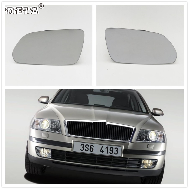 RIGHT DRIVER SIDE SKODA OCTAVIA 2005-2009 MIRROR GLASS pre-facelift