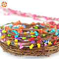 NEW arrival 40cm 9colors(10pcs/lot) artificial Beads Branches flower stamen for home wedding party car decoration crafts flowers