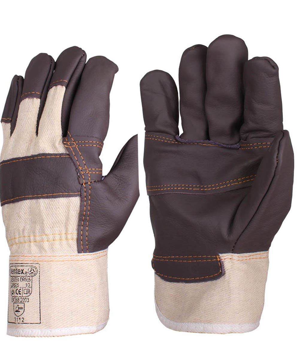 Leather work gloves china - Leather Canvas Abrasion Safety Working Welder Gloves Mechanical Working Leather Welding Gloves China Mainland