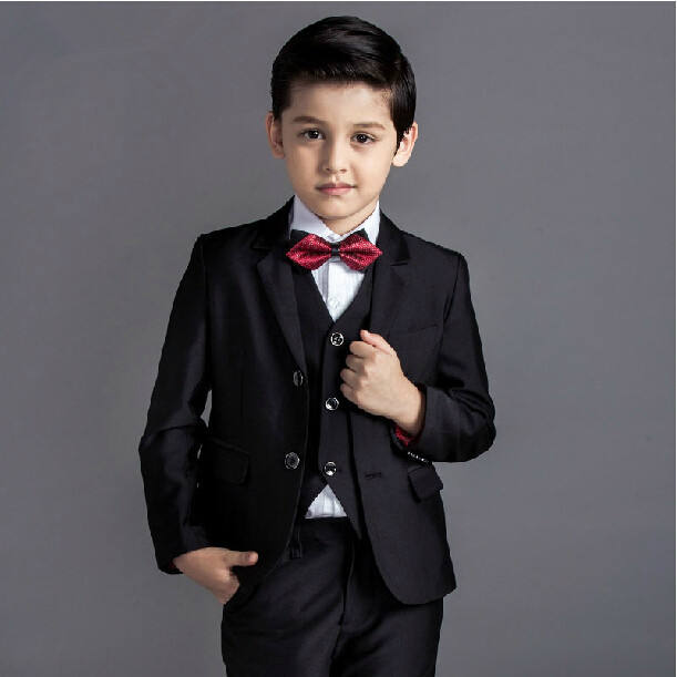 2015 new arrival fashion baby boys kids blazers boy suit for weddings prom formal black blue dress wedding boy suits 5pcs high quality 2016 baby boys kids blazers boy suit for weddings prom formal sequin dress wedding performance clothing suits