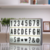 2017 New A4 Size LED Cinematic Light Box With DIY 90 PCS BLACK Letters Cards 3AA