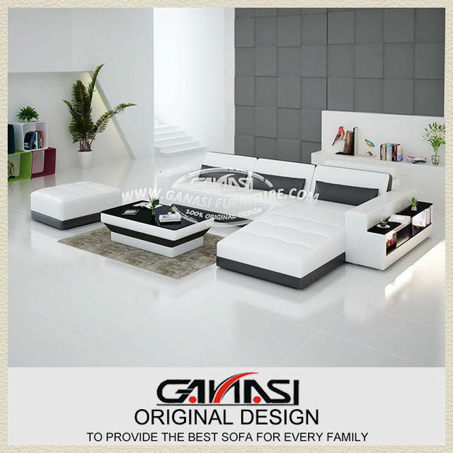 Modern Contemporary Leather Corner Sofas L Shaped Sofa Beds Regular Left Hand