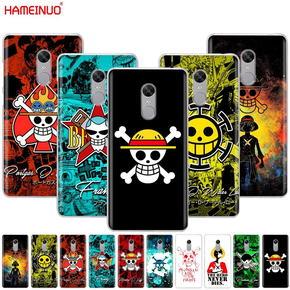 HAMEINUO one piece Pirates logo Anime Cartoon Cover phone  Case for Xiaomi redmi 5 4 1 1s 2 3 3s pro PLUS redmi note 4 4X 4A 5A