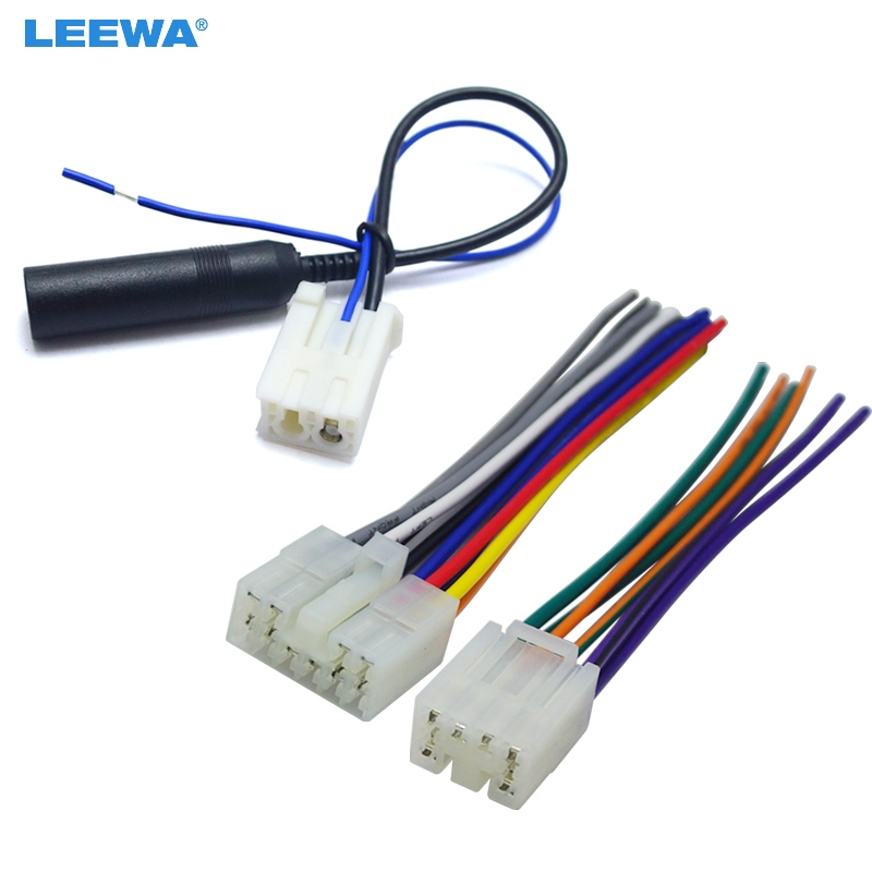 Leewa Car Audio Stereo Wiring Harness Plug With Antenna