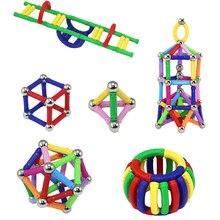 200/100/50pcs Magnetic Building Blocks Toys 200 Piece Similar Building Kit Toys Playing Magnetic Toy Bricks Magnet Bars For Kids недорого
