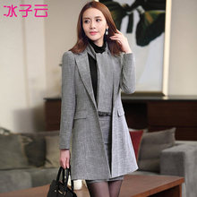 Women s autumn and winter wear thick warm suits dress OL commuter temperament overalls