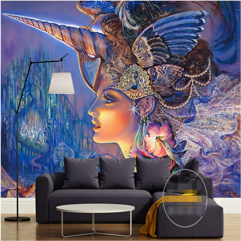 Купить с кэшбэком beibehang photo wall mural 3d wallpaper Luxury Quality HD  color art modern beauty beautiful 3d large wallpaper papel de parede