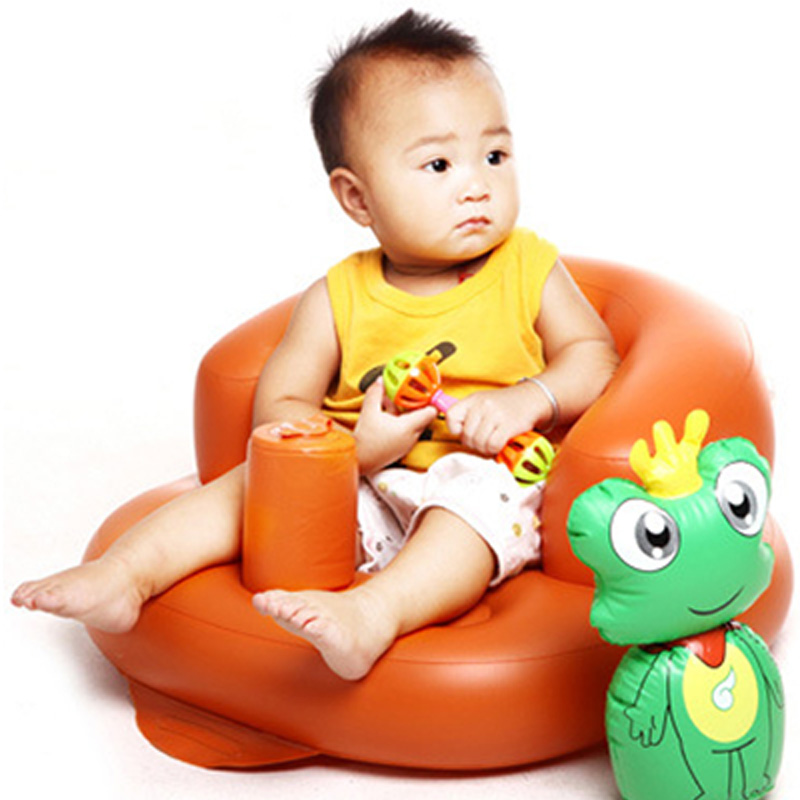 Built-in Pump Portable Baby Chair Inflatable Sofa Cute PVC Cartoon Toy Doll Beanbag Nursing Feeding Seat Safety Bath Seat BB0117