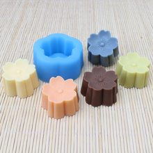 Nicole Plum Blossom Shape Silicone Soap Mold Handmade Chocolate Candy Mould Craft Resin Clay Decorating Tool