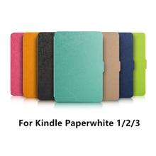 Zimoon Cubierta Para Amazon Kindle Paperwhite 1/2/3 Estela Auto Arriba/Sueño 6 Pulgadas de Cuero de LA PU caso Con Protector de Pantalla