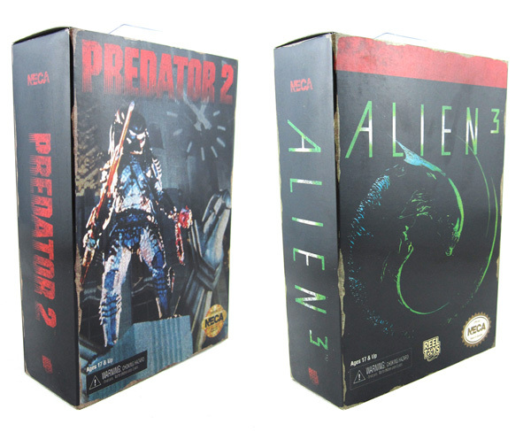 2pcs Sci-fi Predator 2 City Hunter + Alien 3 Dog Alien SEGA Video Game Appearance NECA 7