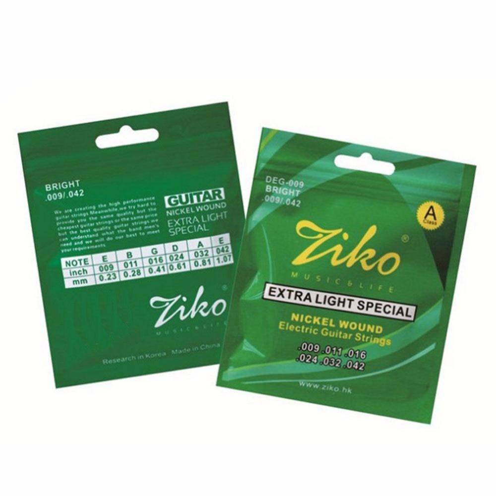 Ziko Brand DEG-009 Electric Guitar Strings Set Extar Light Soft 009-042 Electric Guitar String For Electric Guitar Strings