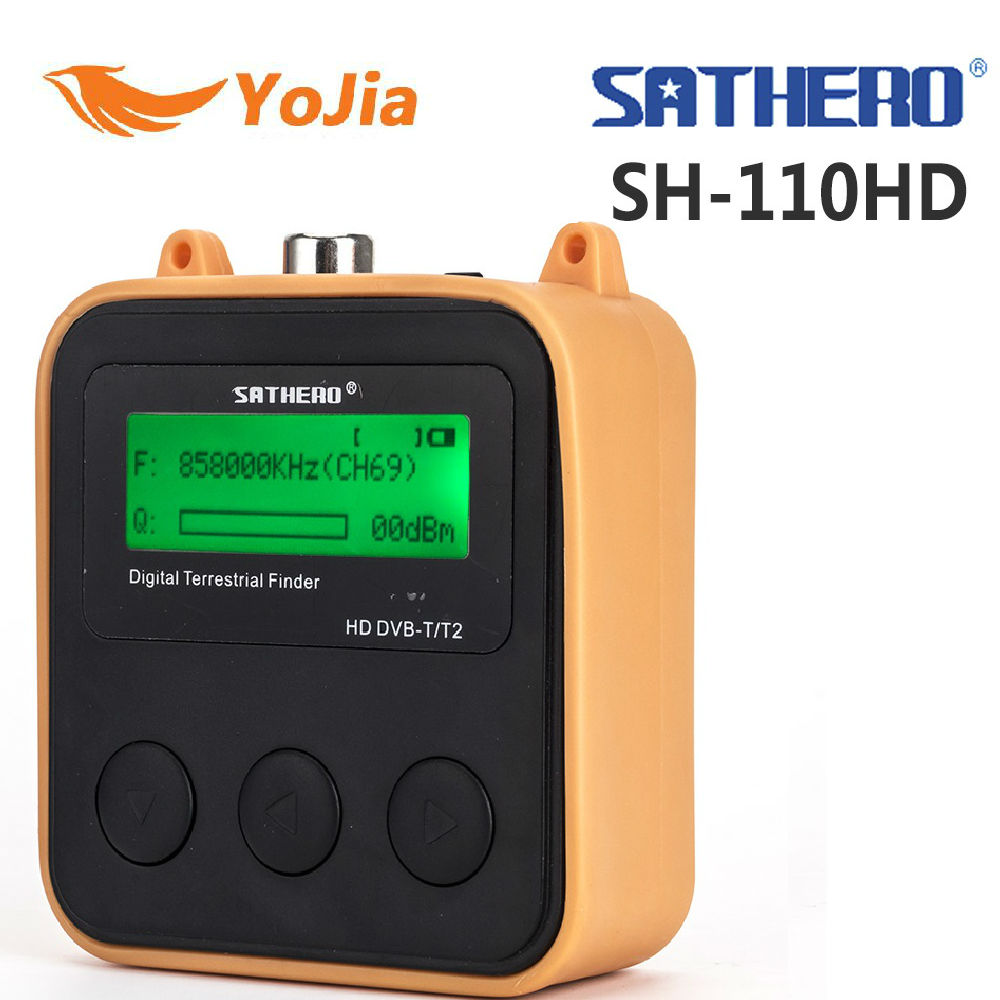 Yojia Sathero SH 110HD DVB T DVB T2 LCD Screen pocket Digital Terrestrial Finder Support QPSK