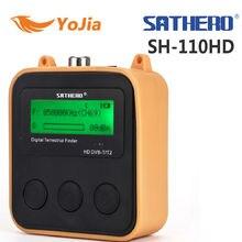 Yojia Sathero sh-110hd dvb-t DVB-T2 ЖК-дисплей Экран карман цифрового наземного Finder Поддержка QPSK метр сигнала Digtal метр