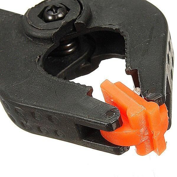 Plastica 9.7 cm X 6.5 cm morsetti a molla set clip di 90mm facile presa bancarella del mercato del lavoro di costruzione clip In Nylon e ABS Nero Casa Strumento strumenti