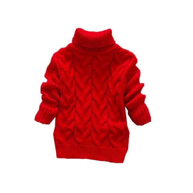 Blusa de inverno para crianças, suéter de algodão de manga longa e quente para bebês meninas