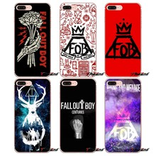 Soft Transparent Cases Covers Fall Out Boy For iPhone X 4 4S 5 5S 5C SE 6 6S 7 8 Plus Samsung Galaxy J1 J3 J5 J7 A3 A5 2016 2017(China)