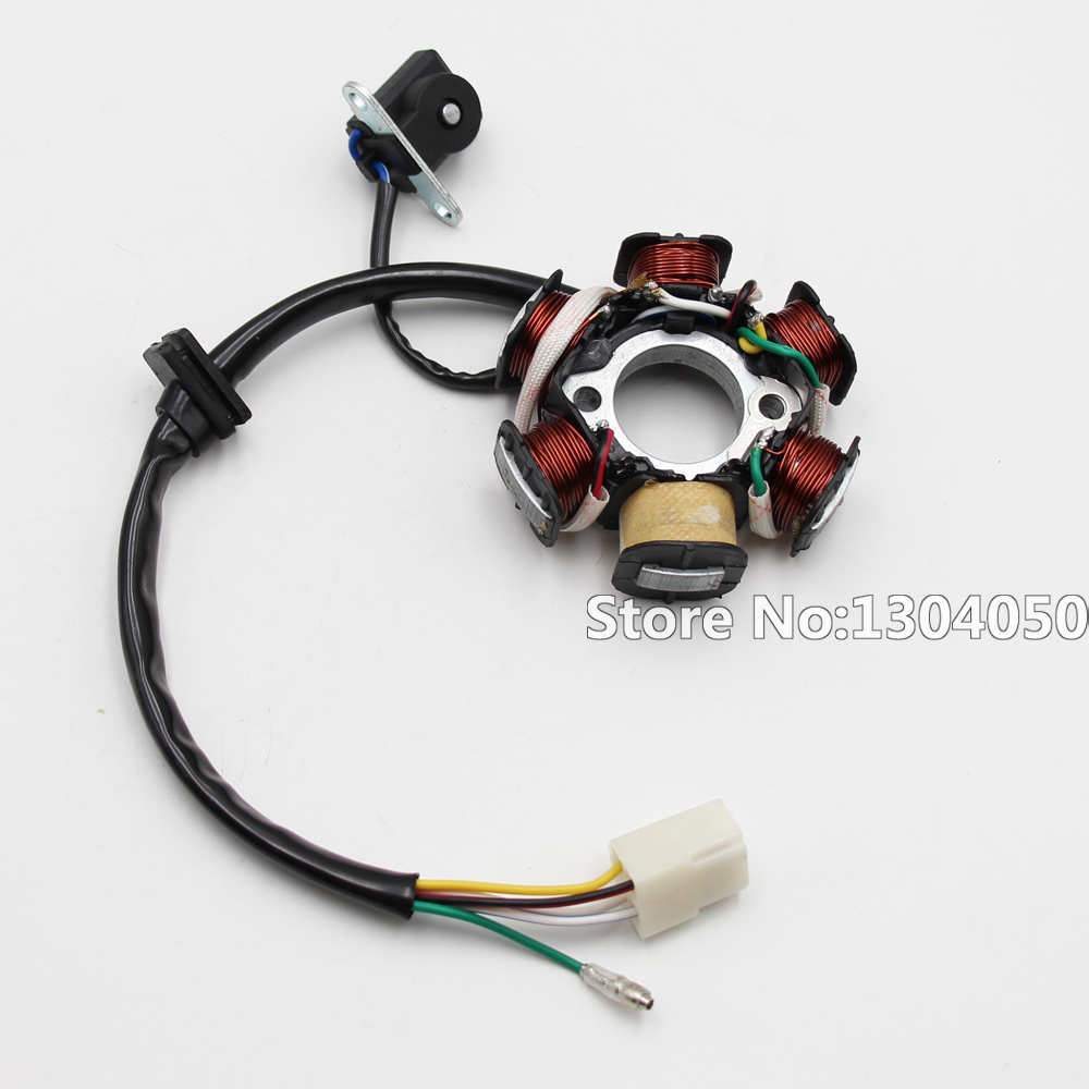 Magneto Stator 50cc 70cc 90cc 110cc 125cc Engine ATV Go Kart Dirt Bike with 6-coil 5-wire new