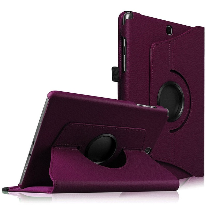 360 Rotating PU Leather <font><b>Case</b></font> for <font><b>Samsung</b></font> <font><b>Galaxy</b></font> <font><b>Tab</b></font> A 9.7 inch <font><b>SM</b></font>-<font><b>T550</b></font> T555 P550 P555 Folio Tablet <font><b>Cover</b></font> Sand Holder Funda Capa image