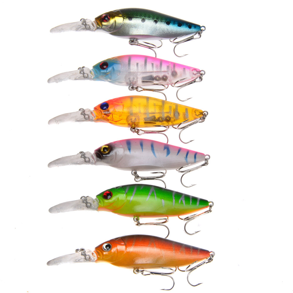 10x//lot minnow quality professional Artificial Fake Bait  silicones BB