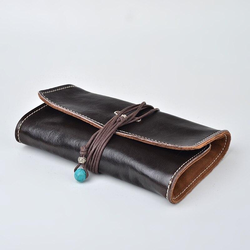 Tobacoo tuyaux sac (tenir 3 pièces) en cuir véritable pipe à fumer poche tabac pipe titulaire fumer tuyau outils fumer produits