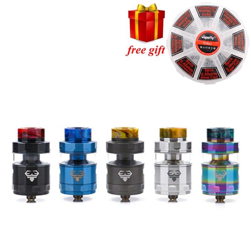 Cadeau gratuit!! GeekVape Blitzen RTA 5 ML version geekvape rta postless construire pont lisse flux d'air pour geekvape gbox mod comme ammit double