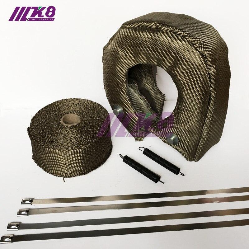 T4 Titanium Lava Fiber Turbo Blanket Heat Shield Barrier Turbocharger Cover Wrap
