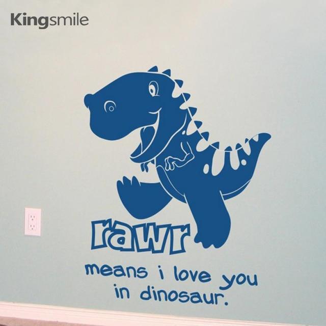 d3ef0336b Cartoon Dinosaur RAWR Means I Love You Kids Wall Sticker Dinosaurs Vinyl  Nursery Wall Art Decals Baby Rooms Decor Size 46*56 cm