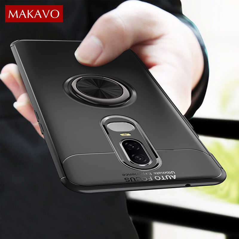huge selection of bc6c4 f3deb Detail Feedback Questions about MAKAVO For Oneplus 6 Case Finger ...