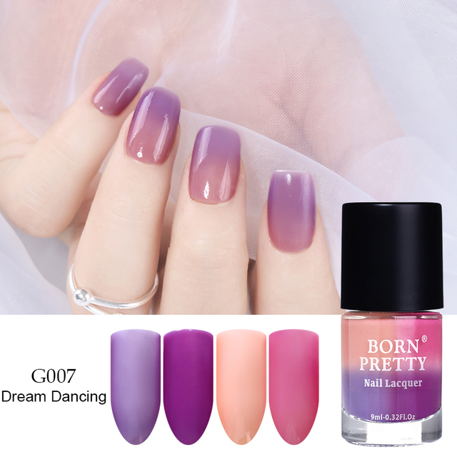 BORN PRETTY Peel Off Thermal Nail Polish Sunlight Sensitive Color ...